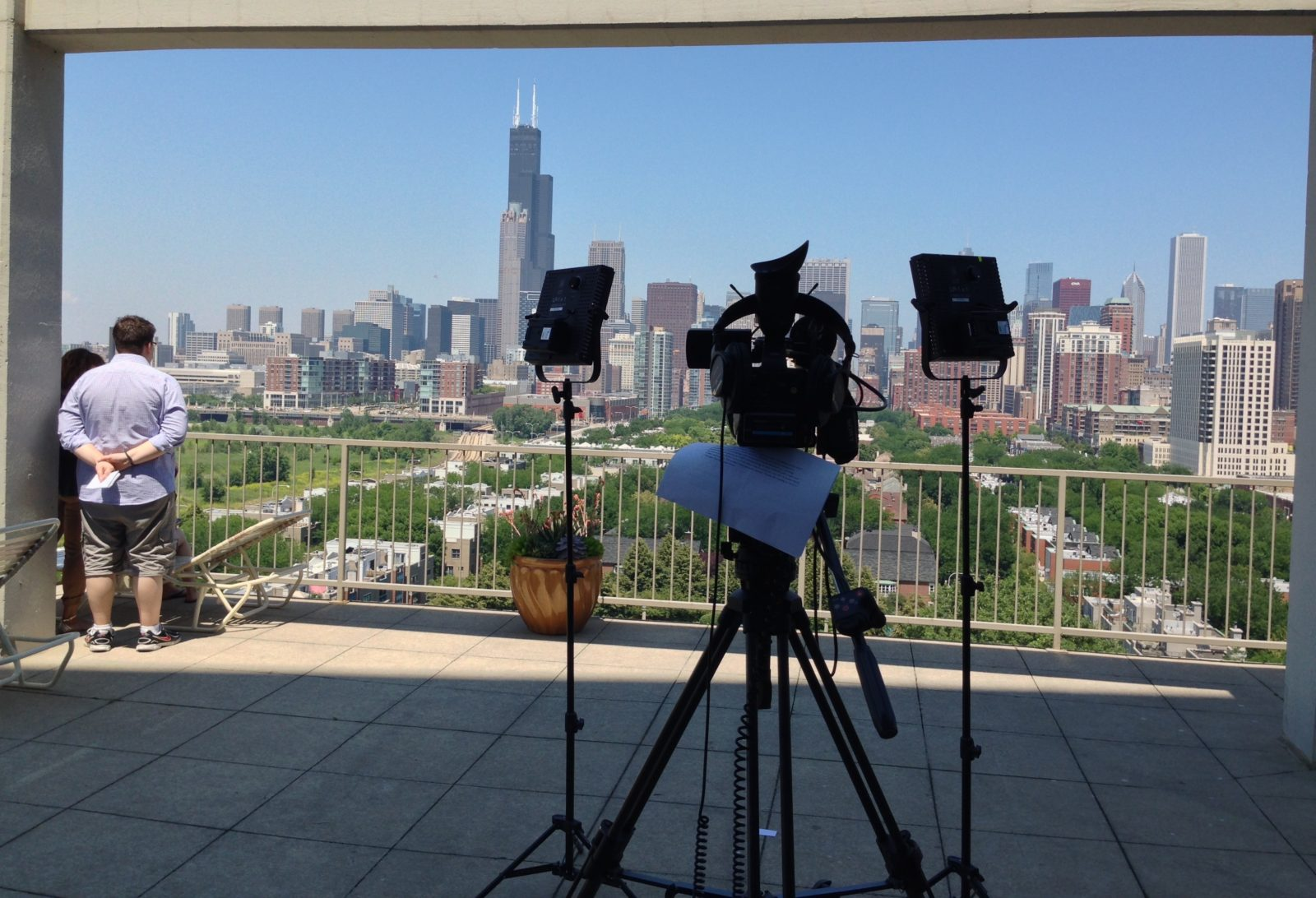 Chicago Skyline Video Shoot