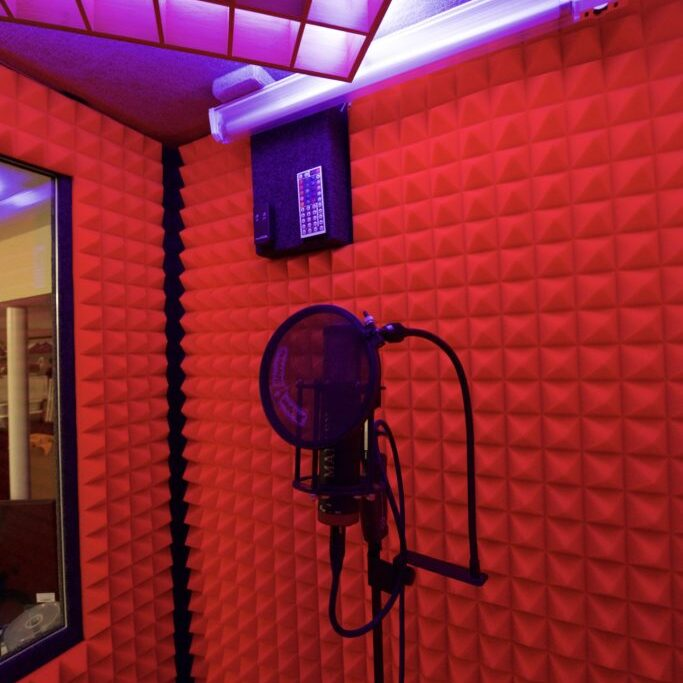 Tony Tang Productions' custom vocal booth design with Manley Cardioid Reference microphone